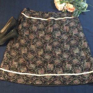 Dress Barn Woman  Size 18 W Floral Skirt